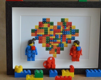 Valentine's Day painting, the lovers. Minifigures de BRICKS