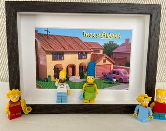 Valentine's Day painting, the lovers. Minifigures de los SIMPSON
