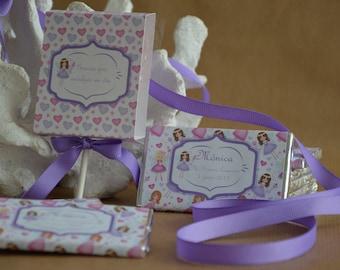Personalized lollipops christening first communion birthday