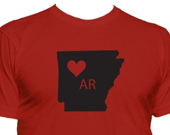 Love Arkansas T-shirt, home state t shirt, gift idea 098