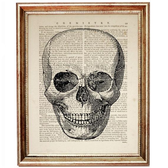 Chiropractic Art Skull Wall Art Anatomy Art Dictionary Art | Etsy