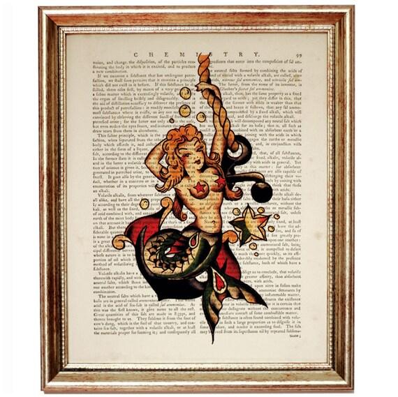 christmas gifts sailor jerry decor sailor jerry mermaid etsy