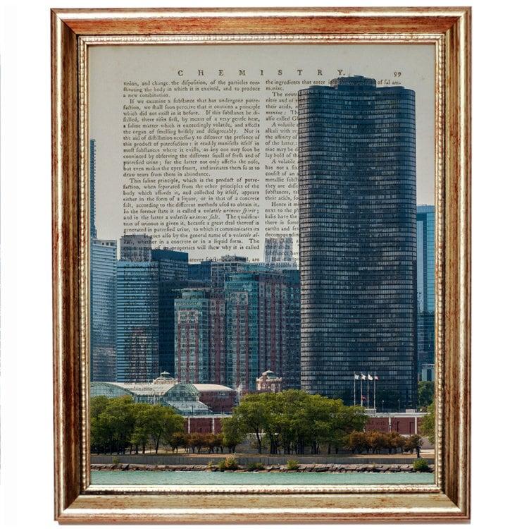 Chicago Wall Art, Chicago Art, Chicago Skyline Wall Art, Chicago ...