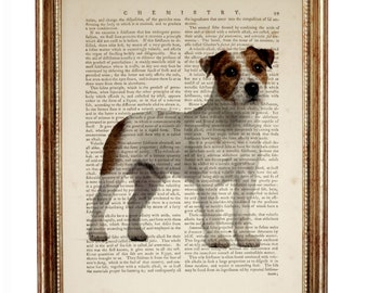 Jack Russell Terrier Dog Dictionary Art Print, Jack Russell Terrier Print, Jack Russell Terrier Art Print, Terrier Dog Portrait, Dog Gifts
