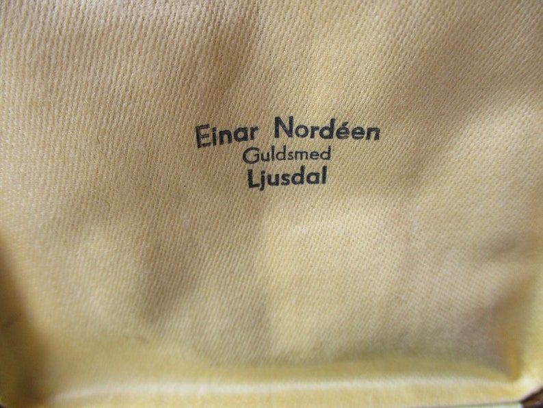 Vintage Swedish Jewellery Case Walnut Effect Jewellery Box