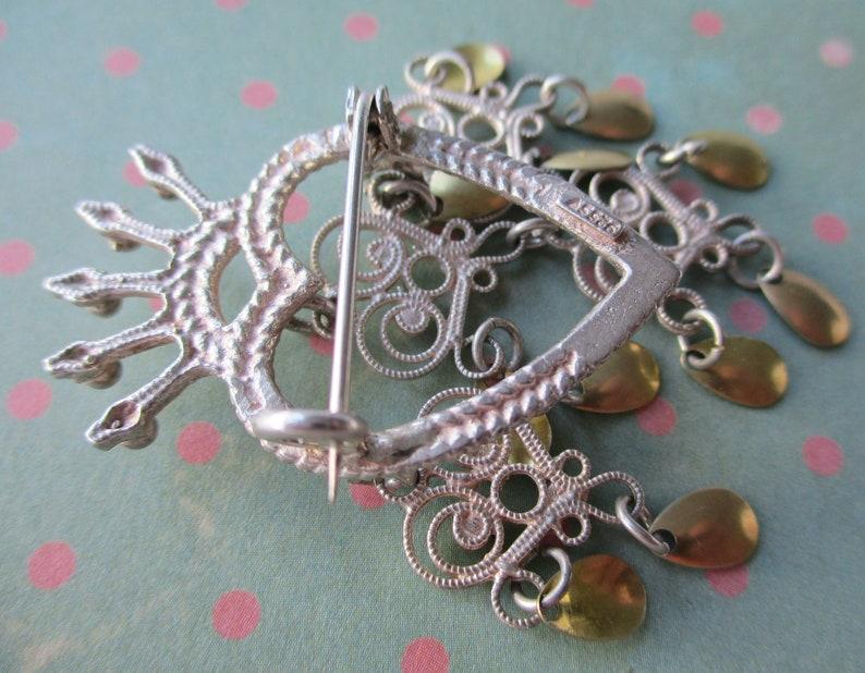 Kinetic Heart Love Wedding Brooch Pin Sterling Silver S\u00f8lje Brooch