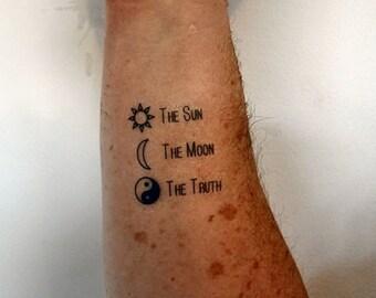Sun Temporary Tattoo Etsy