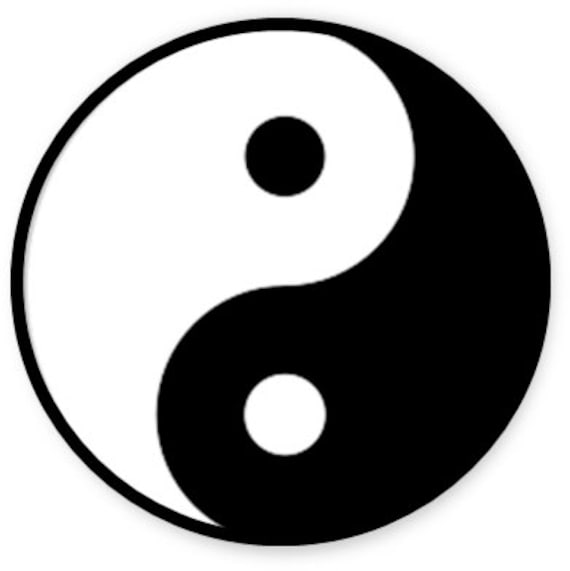 Yin Yang Temporary Tattoo Yin Yang Symbol Hippie Tattoo Etsy