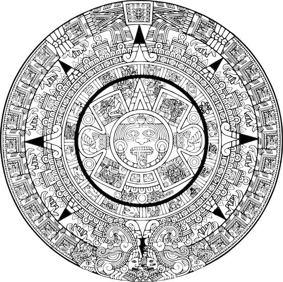 Aztec Mandala Temporary Tattoo Mandala Temporary Tattoo | Etsy