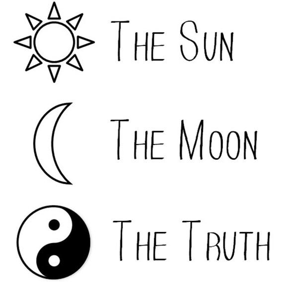 Le Soleil La Lune La Vérité Temporaire Tatouage Tatouage Ying Yang Sun Tattoo Tatouage Tatouage Croissant Indie Tatouage Tatouage De Hipster De