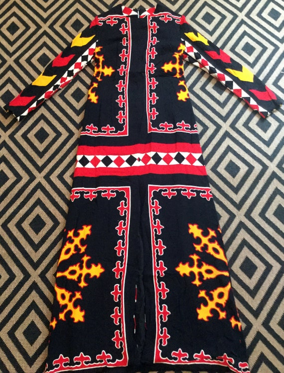 Vintage 1970's Geometric Psychedelic Paganne style