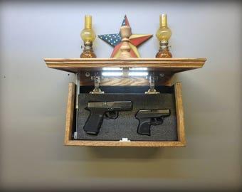 "23/"" X 10/"" Maple  Hidden Compartment Tactical Gun Concealment Shelf"