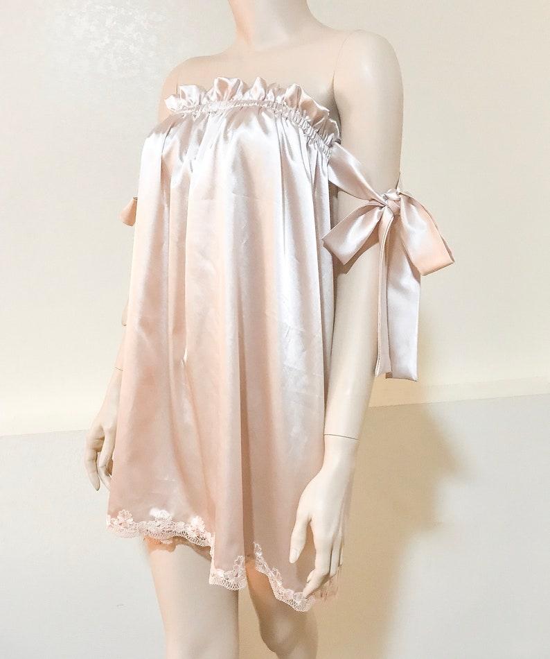 67ae64d539 Bridal lingerie champagne lingerie honeymoon nighty bridal