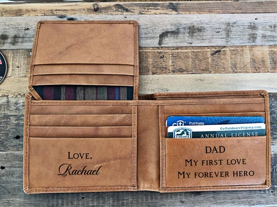 Gift for Dad, Mens Wallet Leather Wallet, Mens Personalized Wallet, Gifts  for Men, Gift for Him, Gifts for Dad, S105b