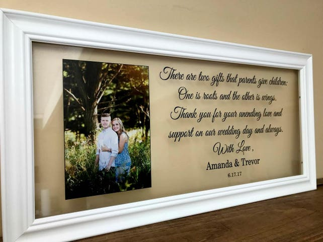 Parents Wedding Frame Parents Wedding Gift Parents Wedding Gift