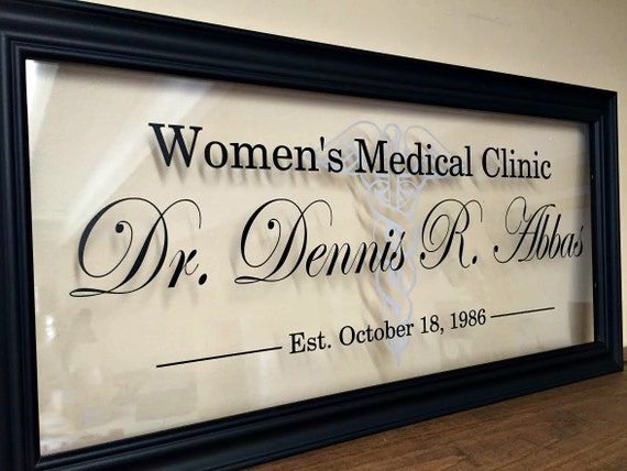 Docteur signe décor de bureau de médecin médecin cadeau etsy