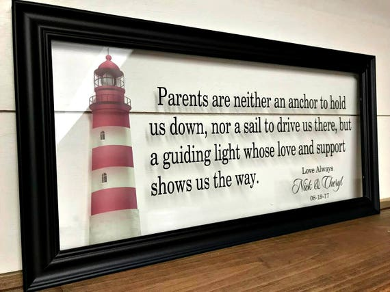 Wedding Gifts For Parents Gifts For Parents Wedding Gift Etsy