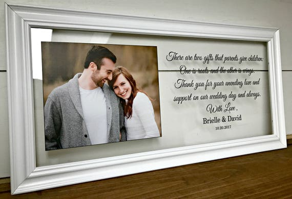 Wedding Frame Parent Parents Picture Frame Wedding Gifts For Etsy