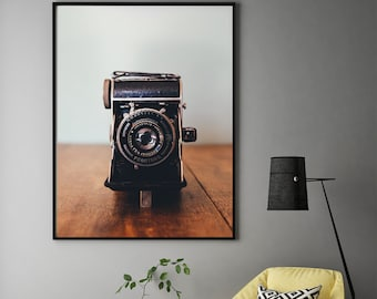 Prontor Camera Poster, Vintage Camera Print, Camera Prints, Prontor Wall Art, Art Gift, Digital Print, Camera, Gift for photographer, Print