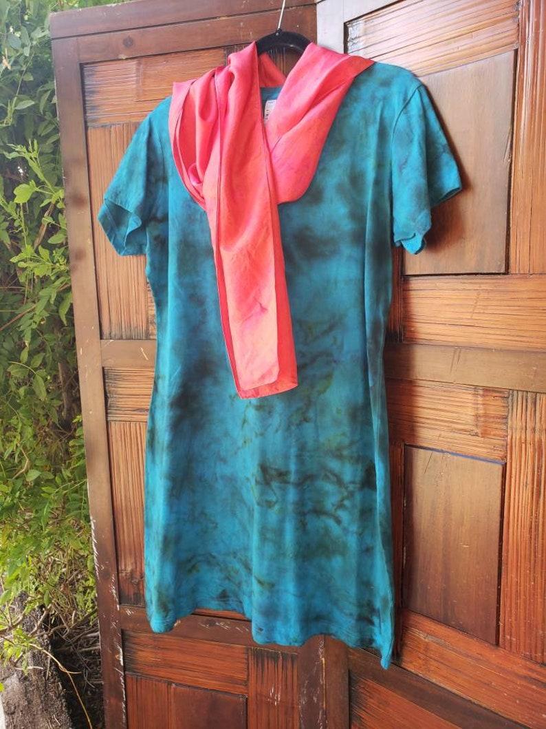 Women/'s Dress cover-up Tie Dye Short Dress Love Yoga Boho Chic Dress Poolside Tie Dye Dress Beach Large Dress Hippie Dress