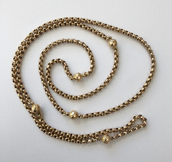 Stunning 9ct Gold Victorian Guard Chain