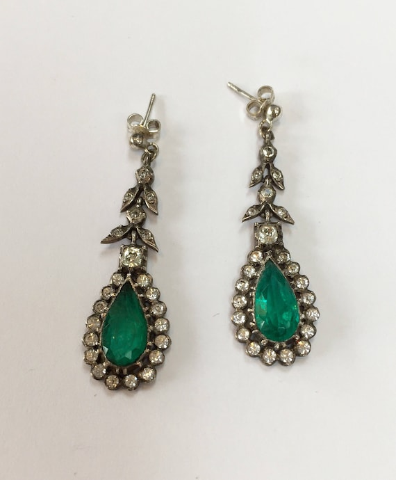 Amazing Edwardian Paste Earrings