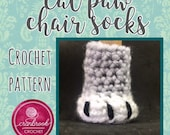 Cat Paw Chair Sock Crochet Pattern