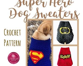 Super Hero Dog Sweater Crochet Patterns