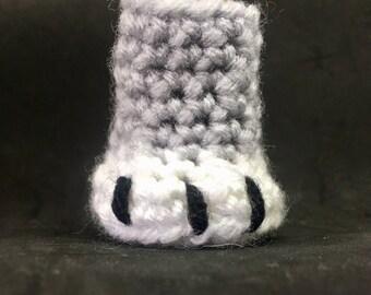 PDF Pattern: Cat Paw Chair Leg Sock