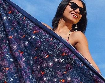 Cotton sarong - Reef Nu Navy