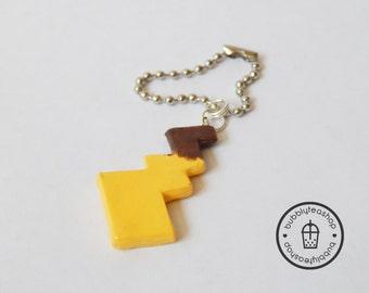 Pikachu Tail Charm - Pikachu Tail Necklace - Pikachu Charm - Pokemon Tail - Anime Charm - Pokemon Charm - Kawaii Polymer Clay