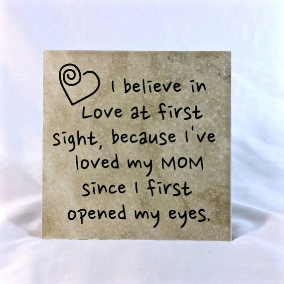 I Believe In Love At First Sight Saying Quote 6 X 6 Tile Etsy