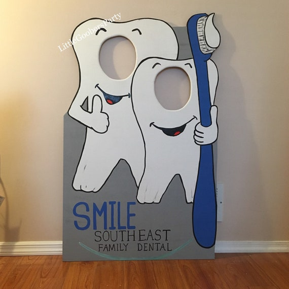 Dentist Display Board Tooth Photo Booth Prop Festival Face Etsy