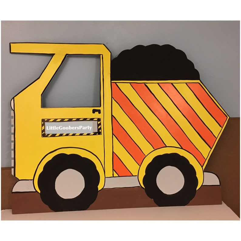 02a1b31b30ff Construction Dump Truck Photo Prop Personalized (foam board) Construction  Birthday Party