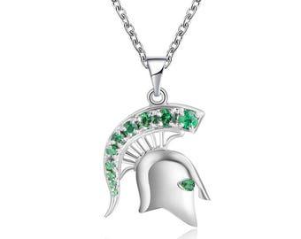 Tsavorite MSU Spartan Head