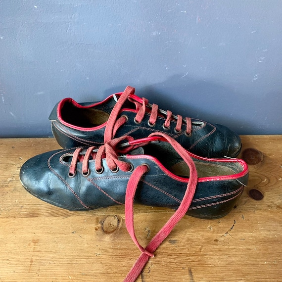 Vintage Italian Soccer Shoes, 1960's Football, Bla