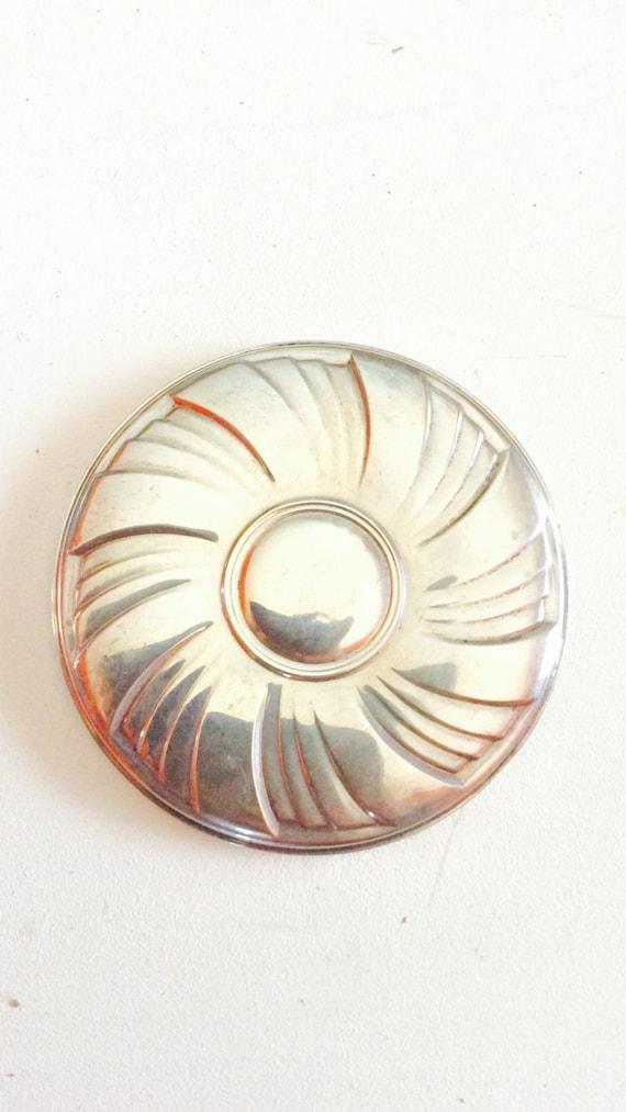 Towel Sterling Silver Mirror Art Deco  Style Mirro
