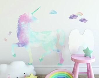 Paint Splats Rainbow Glitter Sparkle Custom Bedroom Wall Art Car Stickers Decals
