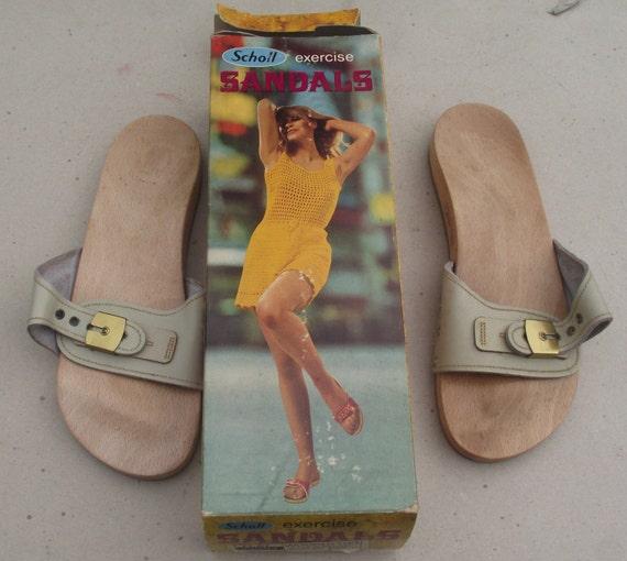 a7a01e21d097 Items similar to 1960 s original vintage Dr Scholl exercise sandals clogs