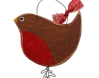 Robin decoration - christmas decor - Christmas tree decoration