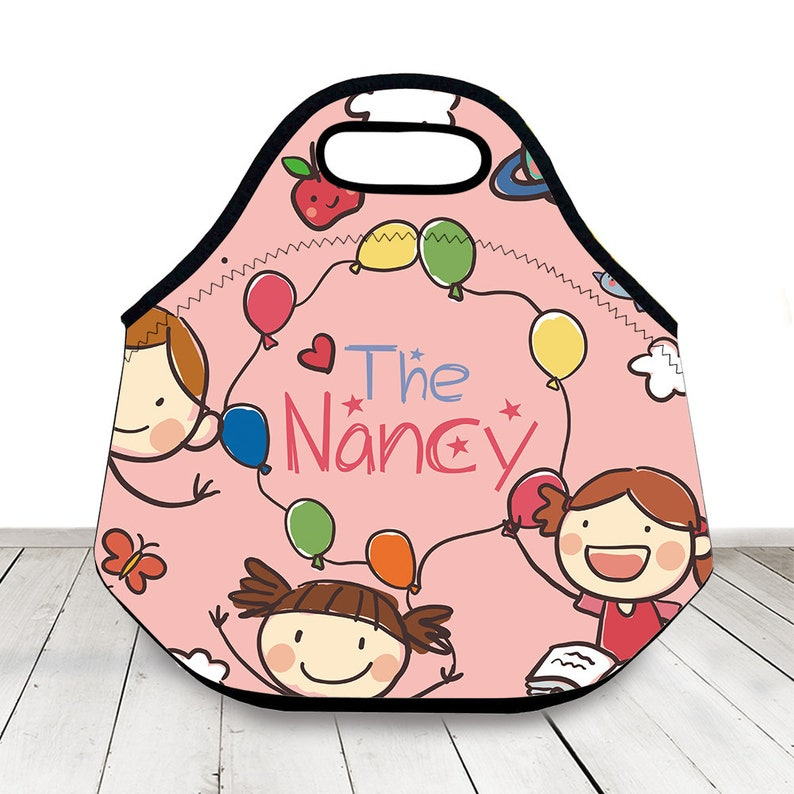 d2e23b5d7377 Cute Lunch Bag For Girl,Personalized Name Insulated Lunch Tote,Personalized  Neoprene Lunch Box Students Back To School,Birthday Gift