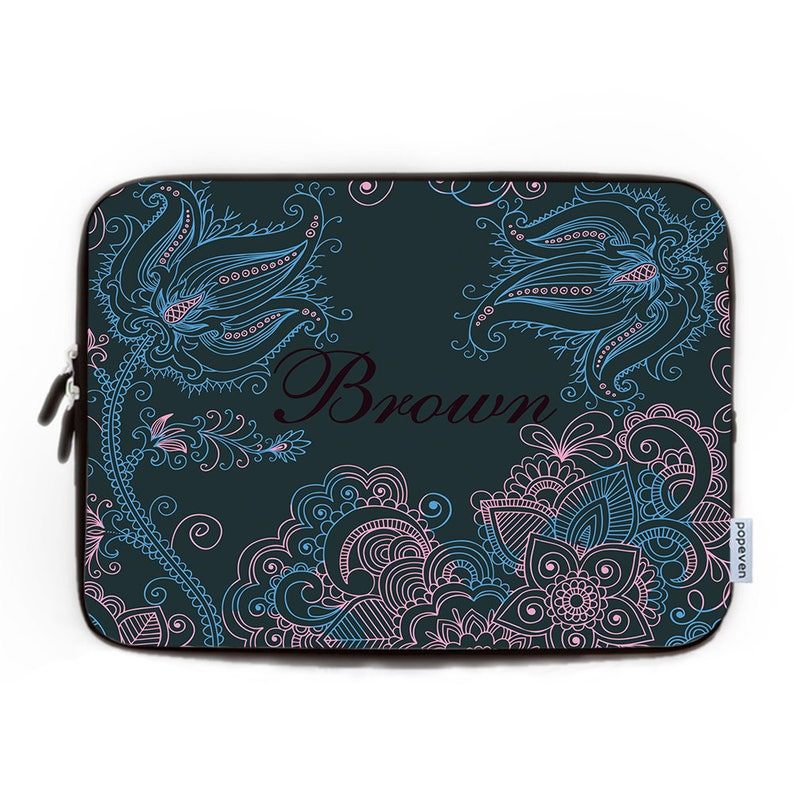 1bc0d8902f13 Retro Floral Damask Laptop Sleeve 17,Personalized Laptop Bag,Neoprene  Laptop Bag 13,Laptop Case 15,Custom 15 Mac Book Air Case,Coworker Gift