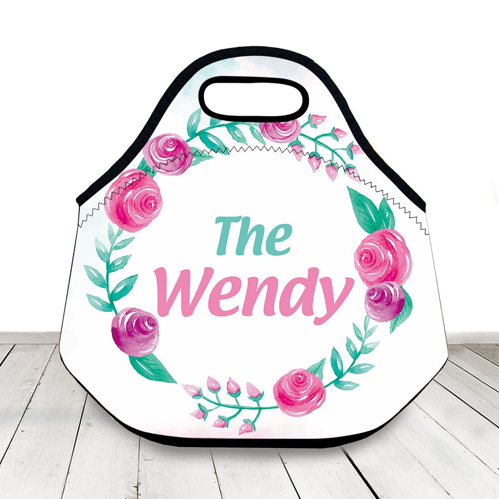 3ebea0843ccf Floral Lunch Bag Insulated Lunch Tote floral Lunch Box cooler bag Mom Gift  kids bag drinks bag neoprene lunch bag insulated bag kids lunch