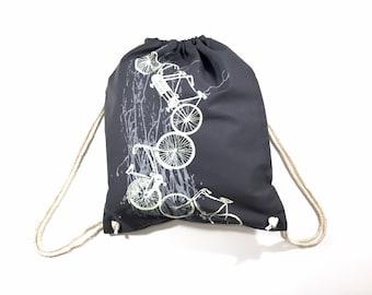 Sale: gym bag bicycles, bike, backpack printed, screen printing