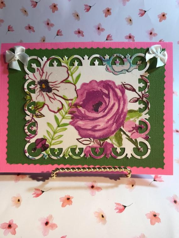 Happy Birthday Card Handmade Birthday Card Happy Birthday Etsy