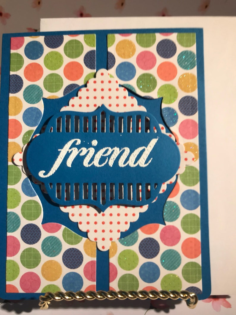 Cute Cards Thank You Card Handmade Cards. Handmade Friendship Card Friend Cards