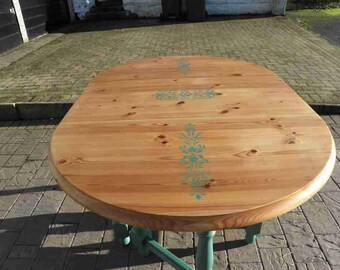 Refurbished Oval Dining Table