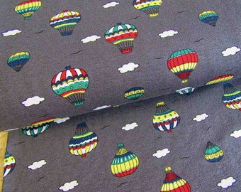 7aac399a30d Colorful balloons on dark grey Single jersey fabric Cotton Jersey Fabric  Jersey Knit Cotton Jersey cotton fabric