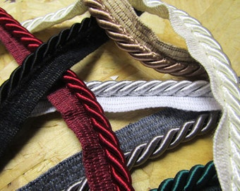 Very Thick Piping cord 8mm Flanged Piping Cord Rope piping 8 colors Flanged Rope Trimmings Upholstery Piping Cushion Piping rope