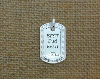 father s day dog tag mens dog tag necklace custom daddy etsy rh etsy com DIY Father's Day Pagan Candles Father's Day in Heaven